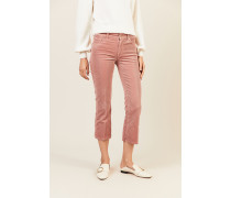 Cord-Jeans 'Cropped Boot' Rosé