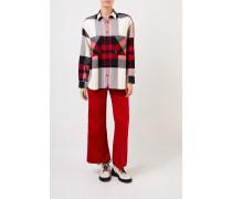 Flannel Shirt mit Karomuster Rot/Multi