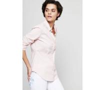 Baumwoll-Bluse mit Raffungen Rosé