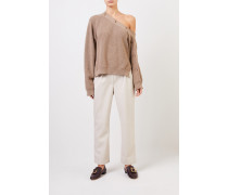 One-Shoulder Pullover 'Camerin' Taupe