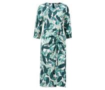 Sommerkleid 'Camille' mit Blätterprint Grün/Multi