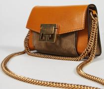 Mini-Tasche 'GV3 Nano' mit Goldelementen Braun