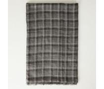 Cashmere-Schal mit Lurexfäden Anthrazit - Cashmere
