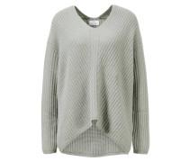 Cashmere-Pullover mit V-Ausschnitt /Grau