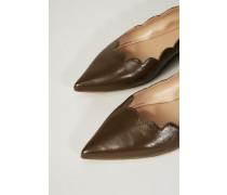 Spitze Ballerina mit Muschelsaum Cacao Brown