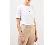 T-Shirt mit Armumschlag und Sterndetail
