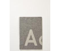Klassischer Wollschal 'Toronty Logo' Grau