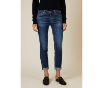 Skinny Jeans 'The Prima Roll-Up' Blau - Leder