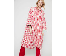 Oversize Wollmantel Red Multi