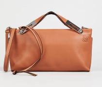 Schultertasche 'Miss Bag' Cognac - Leder