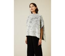 Oversize Woll-Seiden-Pullover Grau