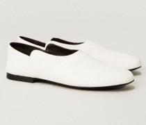 Leder-Slipper 'Boheme' Weiß - Leder