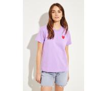 T-Shirt mit Herz-Emblem Violett