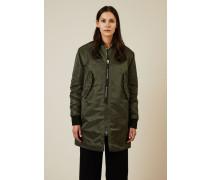 Mantel im Bomber-Stil Grün