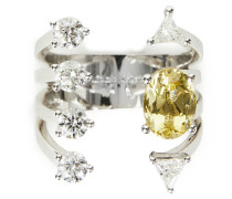 Ring 'Today Tomorrow Dots' Weißgold/Aquamarin