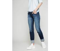 Jeans mit umgeschlagenem Saum 'Hipster' Mittelblau