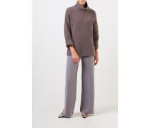 Cashmere-Pullover mit Turtleneck Braun