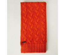 Cashmere-Schal 'Arosa' mit Zopfmuster Orange - Cashmere
