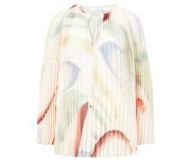 Bluse aus Plissée Crème/Multi