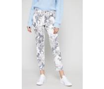 Skinny-Jeans 'Parla Short' Blau/Multi