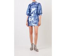 Kurzes Paillettenkleid Blau