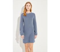 Seiden-Cashmere-Kleid Blau