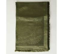 Tuch mit Paisley Muster Grün - Seide