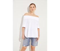 Off-Shoulder Bluse Weiß