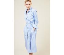 Hemdblusenkleid 'Locke' Blau/Weiß -