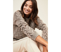 Cashmere-Pullover 'Arlberg' Taupe