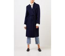 Woll-Cashmere-Mantel 'Carice' mit Gürtel Marineblau