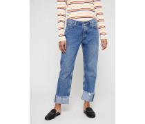 Boyfriend-Jeans 'Phoebe' Mittelblau - 100% Baumwolle