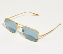 Sonnenbrille x The Row 'Victory L.A.' Gold/Blau