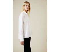 Baumwoll-Bluse Weiß - 100% Baumwolle