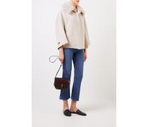 Woll-Cashmere-Cape mit Kragen Beige/Crème 30% Cashmere - 70% Wolle Kragen: -