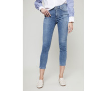 High Rise Skinny Jeans 'Rocket Crop' Blau