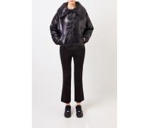 Oversize Jacke mit Kragen schwarz