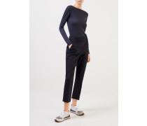 Cashmere-Seiden-Pullover Dunkelblau