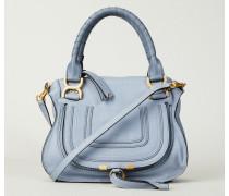 Handtasche 'Marcie Small' Washed Blue - Leder