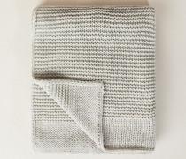 Gestrickter Mohair-Schal Silber