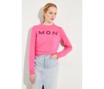 Cashmere-Pullover mit Logo-Schriftzug Pink