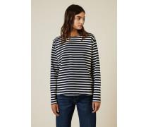 Baumwoll-Pullover 'Simple Mariniere' Blau/Weiß - 100% Baumwolle