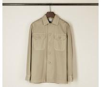 Baumwoll-Hemd mit klassischem Kragen Beige - 100% Baumwolle
