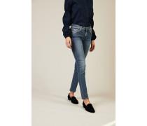 Skinny Jeans 'Pyper' mit Nietendetails Hellblau