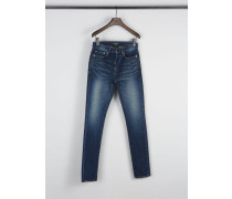 Jeans in Used-Optik Mittelblau