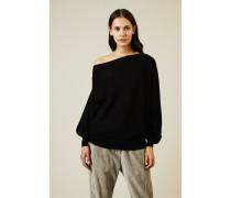 Oversize Cashmere Pullover Schwarz