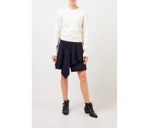 Woll-Cashmere-Pullover mit V-Neck Soft White