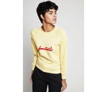 Sweatshirt 'Fantastic' Pale Yellow - 100% Baumwolle