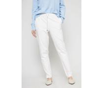 Hose mit elastischem Bund Weiß