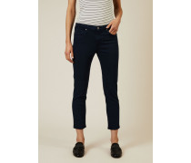 Cigarette Leg Jeans 'The Prima Cropped' Marineblau - Leder